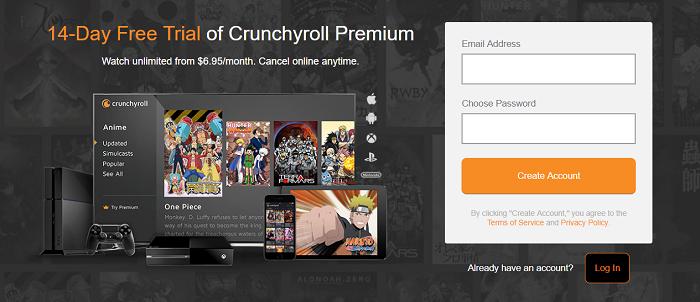 Crunchyroll Premium Free Trial