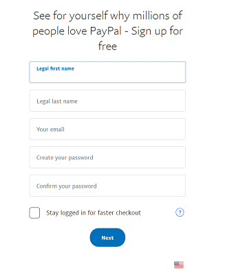 PayPal Sign-up