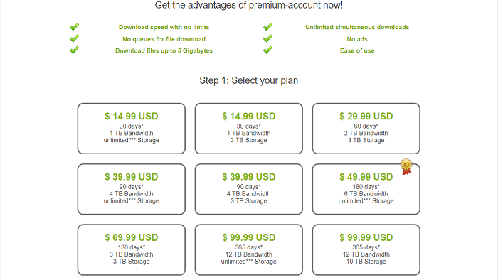 rapidgators premium account plans