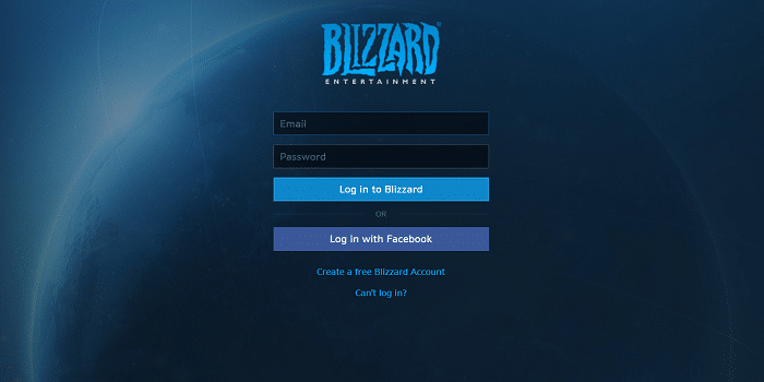 Blizzard Login for Overwatch