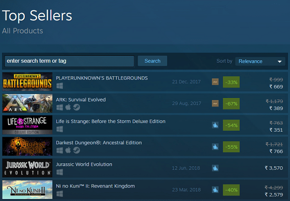 Top Steam Games