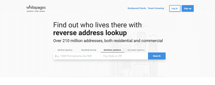 whitepages address lookup