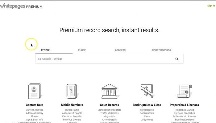 whitepages premium free accounts