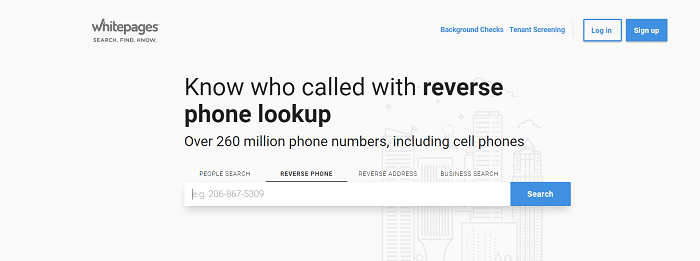 whitepages reverse phone lookup