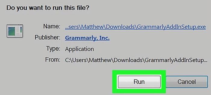 Run Grammarly
