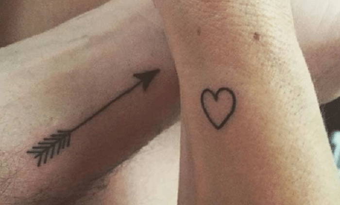 The arrow and heart